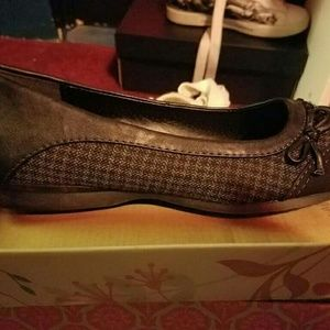 Jelly Beans Shoes - Black and grey plaid flats