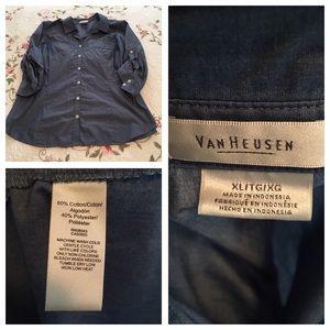 Van Heusen Tops - VanHuesen XL Blue shirt