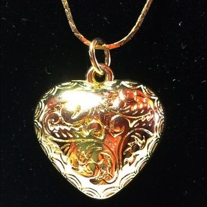 Jewelry - Gold Plated Heart Pendant And Chain