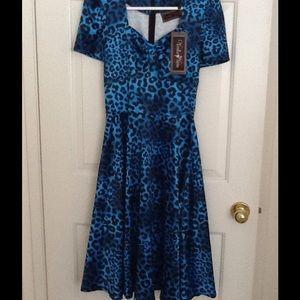 Voodoo Vixen Dresses & Skirts - Voodoo Vixen blue leopard dress
