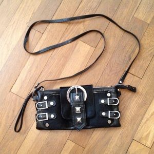 Nicole Lee Handbags - Black Purse w/ Silver Studs&Buckles Detail