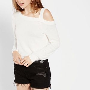 Express One Shoulder Pullover Sweater
