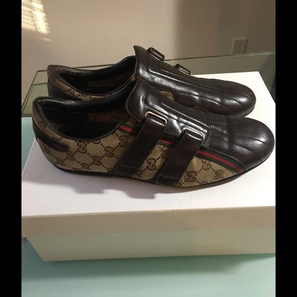 b06abd5ec4274 Gucci Other - Gucci Men s Monogram Velcro Sneakers Brown