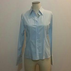NWOT Michael Kors striped Burton down blouse