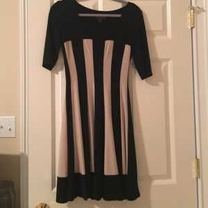 Black and beige Connected dress.