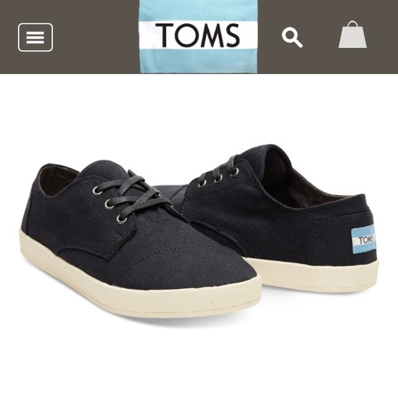 3d55d56e227 TOMS Men s Paseo Sneakers - Black Canvas