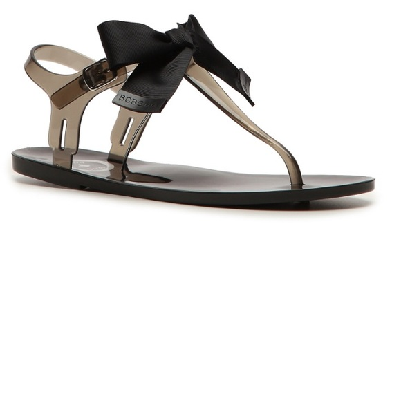 bfde7bef95f0 BCBG Paris Beena Black Jelly Sandal with Bows