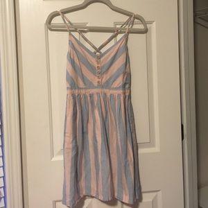 Cotton candy strip dress