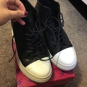 Rick Owens Shoes - Leather sneaker