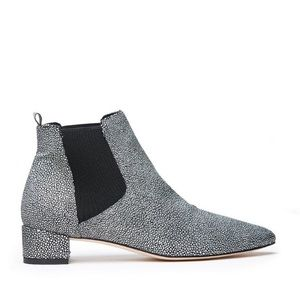 Miista Shoes - Miista - Silver and Black Beau Bootie