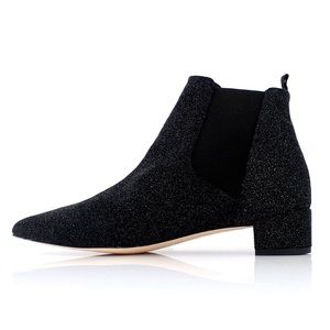 Miista Shoes - Miista - Black and Blue Beau Bootie