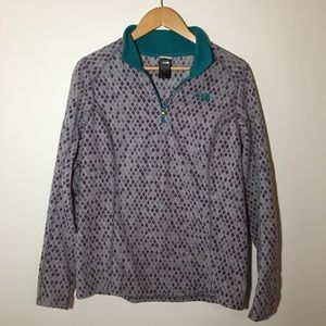 Patterned North Face Women's Pullover SIZE L