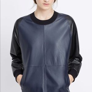 Vince NWT leather colorblock sweater $695