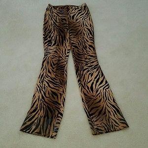 Abs Evening Wear Tiger Print Pants
