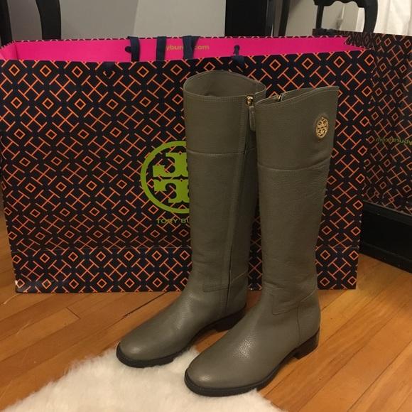 Tory Burch Shoes   Junction Riding Boots Porcini Color   Poshmark 7ab85246c727