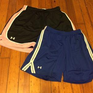 Set of 2 UA shorts
