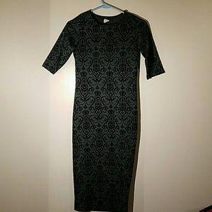 Snap Dresses & Skirts - SNAP green n black dress