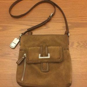 Tignanello Handbags - Tignanello brown leather crossbody purse