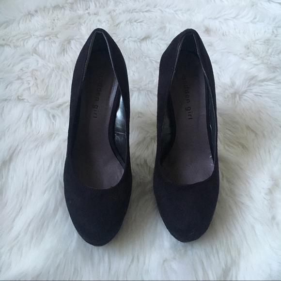 Steve Madden Shoes - Black Platform Suade Heels