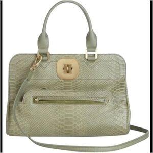 Longchamp Handbags - Longchamp Gatsby Snakeskin Exotic Leather Satchel