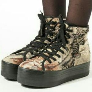 Jeffrey Campbell Shoes - Jeffrey Campbell HIYA cat tapestry sneakers 7