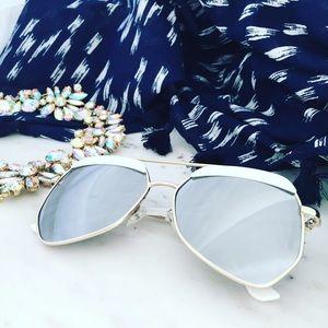 "Erica Rose Accessories - ""Blake"" Sunglasses || Silver Mirror Aviator"