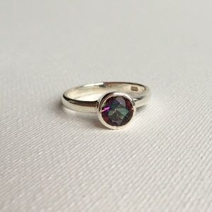 Mystic Topaz and Sterling Silver Ring