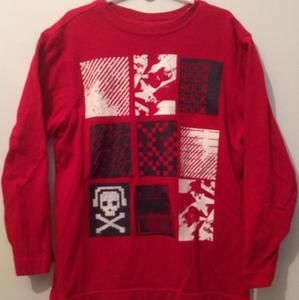 CRAZY 8• Never worn• red Rock 'n Roll Long sleeve Tee