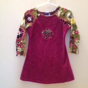 Flap Happy Other - Velvet Tunic /legging set • flower decal