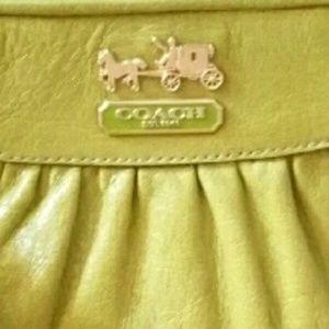 Coach Handbags - Coach Leather XL Wristlet