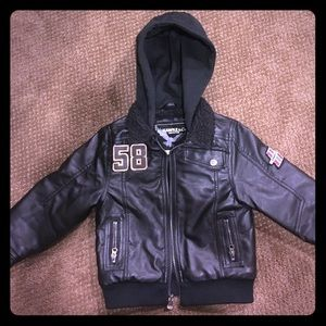 Hawke & Co Other - Boys Toddler (faux) leather jacket