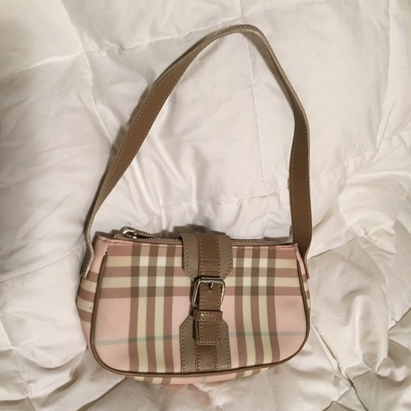 32f1780a743b Burberry Handbags - Authentic Burberry Pink Nova Check Plaid Handbag
