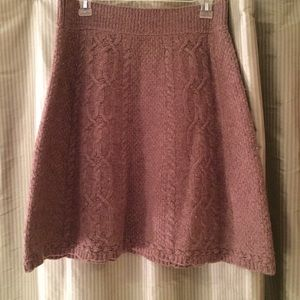 Anthropologie Cable Knit Skirt