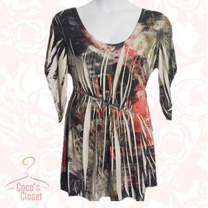 ONE WORLD Tops - One World sublimated blouse