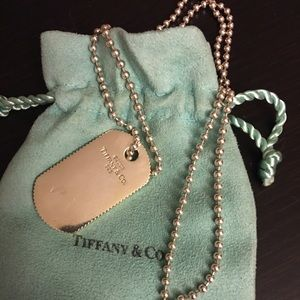 Tiffany & Co. Dog tag style necklace