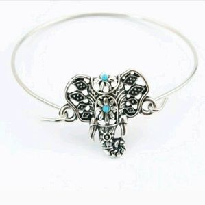 Jewelry - Elephant Bangle Bracelet boho silver alloy