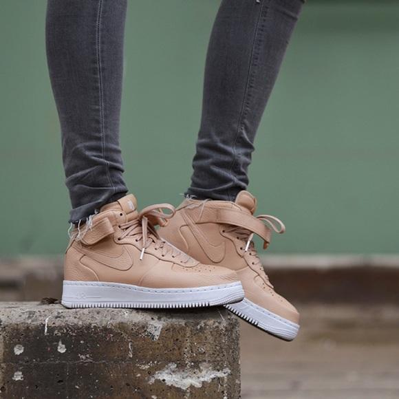 376a755c8195 NikeLab AF1 Mid Vachetta Tan Sneakers