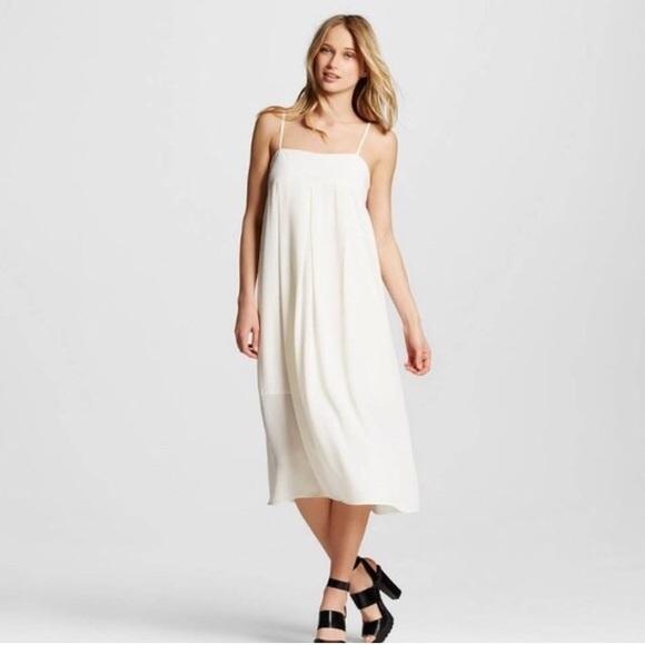 140eb6661fb8 Dresses | Whowhatwear Target White Apron Slip Dress | Poshmark