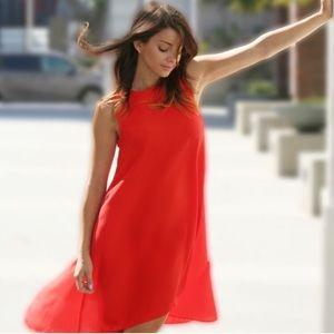Asos - poppy red, hi/low dress - Sz 0