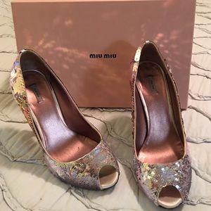 Stunning Miu Miu sequin high heel