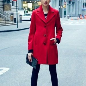 Red lambswool coat