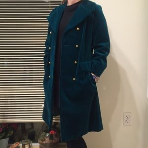 Vintage Jackets & Blazers - vintage Rainmaster velvet trench