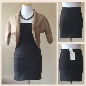 Millau Dresses & Skirts - Black Mini Skirt with Subtle Gold Shimmer NWT