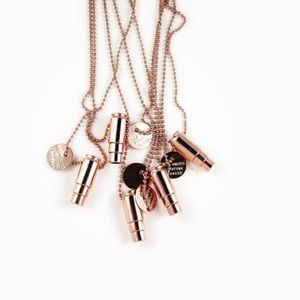 Half United Jewelry - HALF UNITED ROSE GOLDBULLET NECKLACE