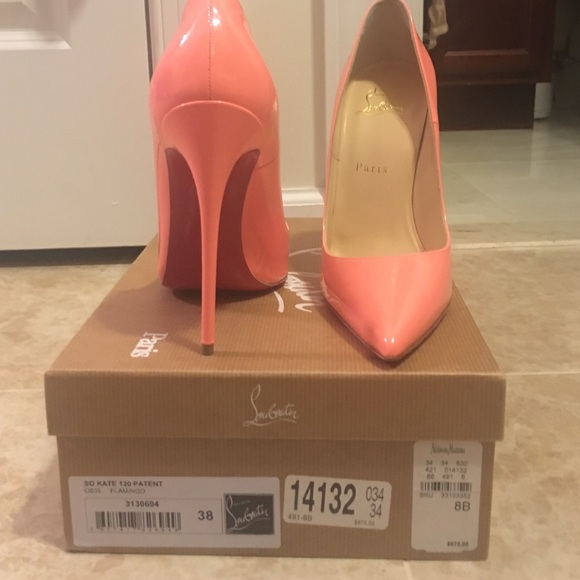 782de6095a6 Christian Louboutin So Kate 120 Patent Flamingo