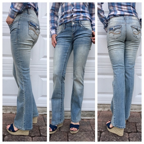 5e50bd794b Denim - L.E.I. Juniors Ashley Slim Bootcut Jeans