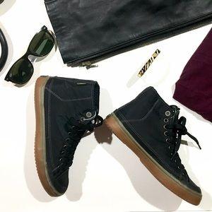 Tretorn Shoes - Tretorn Skymra Matte Black High Top Sneakers