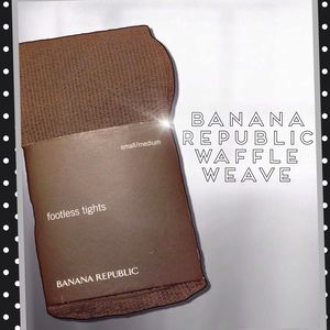 Banana Republic Accessories - 🆕Gray Waffle Weave Opaque Tights