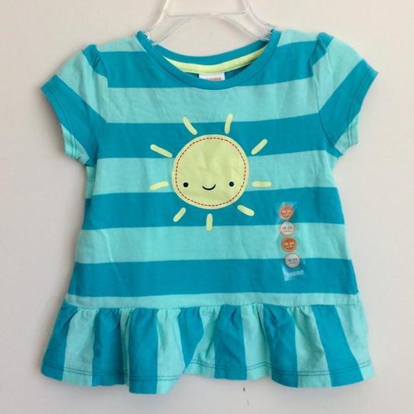 bbc3d9dbade Girls Gymboree Sunshine Striped Peplum Tee 18-24 Months