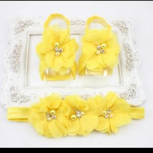 Other - 💛 Little Girls Barefoot Sandal Set